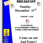 All You Can Eat Breakfast With Santa