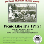 Old Fashioned Community Picnic – Carleton Place and Beckwith Heritage Museum