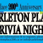Carleton Place 200 Trivia Night