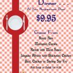 Market Street Cafe Dinner Special September