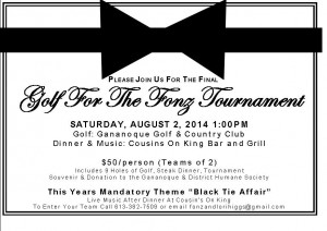 2014 golf for the fonz invite