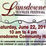 Fourth Annual Lansdowne Textile Festival