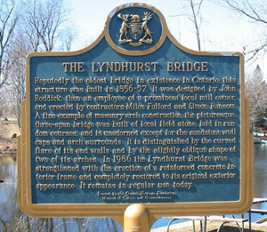 The Lyndhurst Bridge Plaque