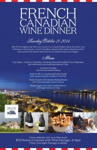 French Canadian Wine Dinner Poster