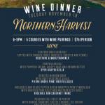 Northern Harvest Wine Dinner @ The Cove Tue.Nov.10