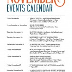 NOVEMBER EVENTS @ The Cove