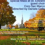 Special Mass at St. Edward's Church