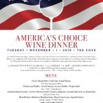 American Wine Dinner @ The Cove Nov.1