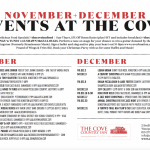 DECEMBER EVENTS @ The Cove