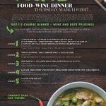 THAI WINE + FOOD DINNER Mar.9 @ The Cove!
