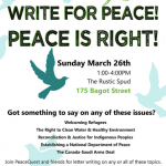 Kingston: Write for Peace, Peace is Right!