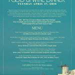 Mediterranean Wine Dinner Apr.17 @ The Cove!