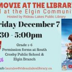 "Rideau Lakes Public Library presents ""Movie, Arthur Christmas""!"