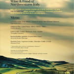 PIEMONTE WINE DINNER: WINE & FOOD OF NORTHWESTERN ITALY @ The Cove Apr.4