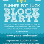 Summer Pot Luck Block Party