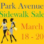 Park Avenue Sidewalk Sale