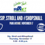 Sip, Stroll and #ShopSmall